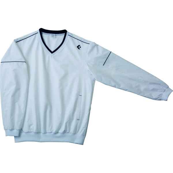 【コンバース】 ウォームアップジャケット(裾ボックス仕様) CB162501S [カラー:ホワイト×ネイビー] [サイズ:XO] #CB162501S-1129 【スポーツ・アウトドア:その他雑貨】【CONVERSE】