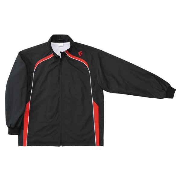 【コンバース】 ウォームアップジャケット(裾ボックス仕様) CB162501S [カラー:ブラック×レッド] [サイズ:XO] #CB162501S-1964 【スポーツ・アウトドア:その他雑貨】【CONVERSE】