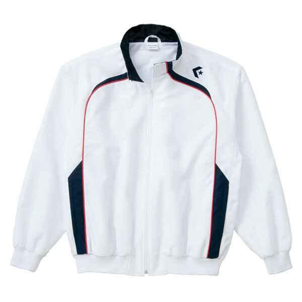 【コンバース】 ウォームアップジャケット(裾フライス仕様) CB162502S [カラー:ホワイト×ネイビー] [サイズ:M] #CB162502S-1129 【スポーツ・アウトドア:その他雑貨】【CONVERSE】