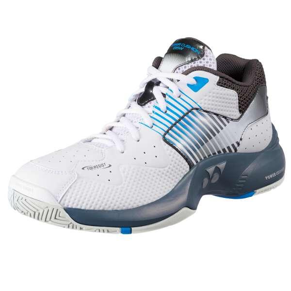 テニスシューズ パワークッションワイド135 [カラー:ホワイト×ブルー] [サイズ:26.5cm] #SHT-135W-207