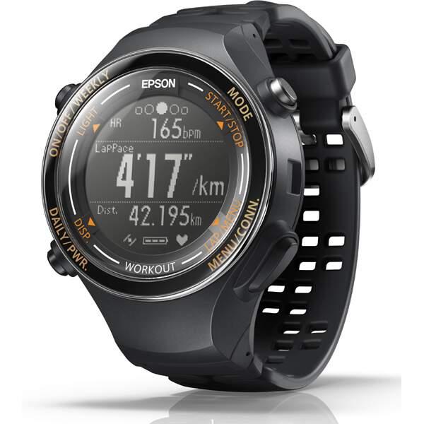 【エプソン】 WristableGPS(リスタブルGPS) SF-850PJ 脈拍計測機能搭載GPSウォッチ [カラー:ジェットブラック] #SF850PJ 【スポーツ・アウトドア:ジョギング・マラソン:ギア】【EPSON】