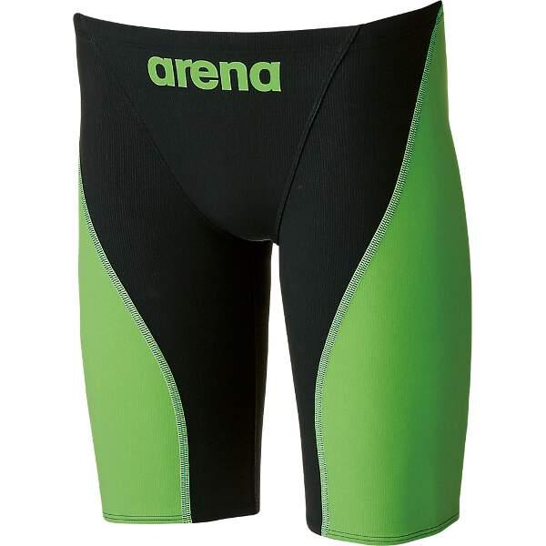 【アリーナ】 AQUAFORCE FUSION2 ハーフスパッツ [カラー:ブラック×Lグリーン] [サイズ:O] #ARN-7011M-BKLG 【スポーツ・アウトドア:スポーツ・アウトドア雑貨】【ARENA】