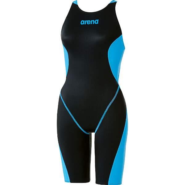【アリーナ】 X-PYTHON2 ハーフスパッツ(クロスバック) [カラー:ブラック×Lブルー] [サイズ:SS] #ARN-7024W-BKLB 【スポーツ・アウトドア:スポーツ・アウトドア雑貨】【ARENA】