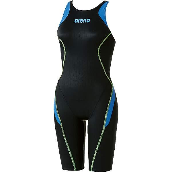 【アリーナ】 X-PYTHON2 ハーフスパッツ(クロスバック) [カラー:ブラック×Lブルー×Lブルー] [サイズ:M] #ARN-7030W-BKLB 【スポーツ・アウトドア:スポーツ・アウトドア雑貨】【ARENA】