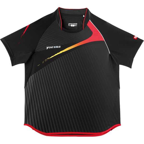 卓球アパレル V-SW025 Viscotecs ゲームシャツ(男女兼用) [カラー:ブラック] [サイズ:S] #031455-0020
