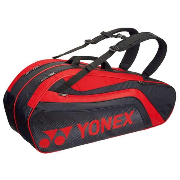 ラケットバッグ6(リュック付) テニスラケット6本用 BAG1812R [カラー:ブラック×レッド] #BAG1812R-187