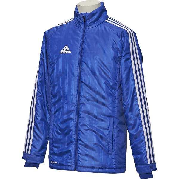 【アディダス】 SHADOW ウォーマージャケット(中綿) [サイズ:L] [カラー:パワーブルー] #BQK70-AY4582 【スポーツ・アウトドア:サッカー・フットサル:メンズウェア:ピステ】【ADIDAS】