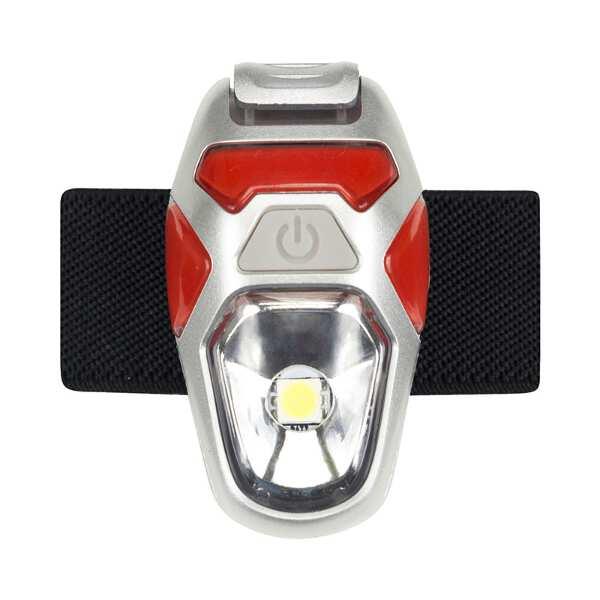 オリオン ストローブ(USB充電式LEDライト) [カラー:レッド×シルバー] #5082NFR