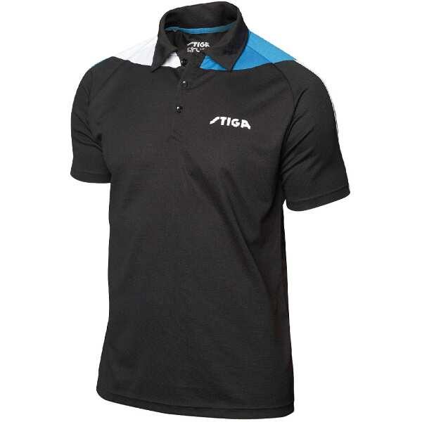 卓球ユニフォーム パシフィックシャツ [サイズ:L] [カラー:ブラック×ブルー] #1854331606