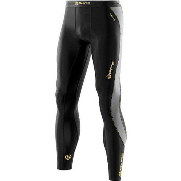 【スキンズ】 DNAmic メンズ サーマルロングタイツ 日本正規品 [サイズ:XL] [カラー:ブラック×イエロー] #DK0001001-BKYL 【スポーツ・アウトドア:スポーツ・アウトドア雑貨】【SKINS】