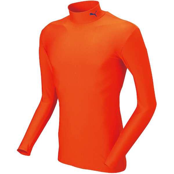 COMPRESSION ジュニアモックネック LSシャツ [サイズ:140] [カラー:オレンジ×ブラック] #920481-10