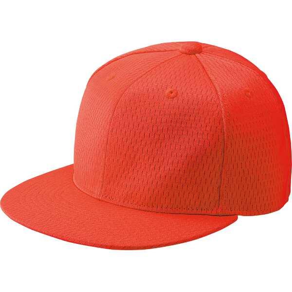 野球キャップ 六方 平ツバキャップ [サイズ:L(57-58cm)] [カラー:レッド] #BH181-6400