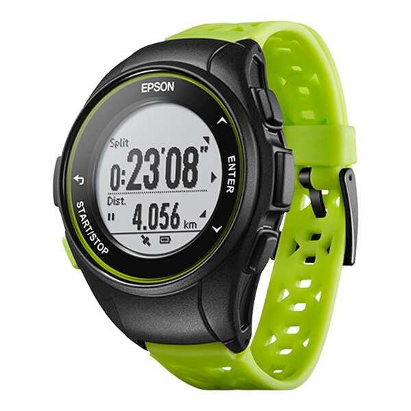 【最大1500円offクーポン(要獲得) 4/9 20:00~4/16 1:59】 【送料無料】 WristableGPS(リスタブルGPS) Q-10G GPSウォッチ [カラー:グリーン] #Q10G 【エプソン: スポーツ・アウトドア ジョギング・マラソン ギア】【EPSON】