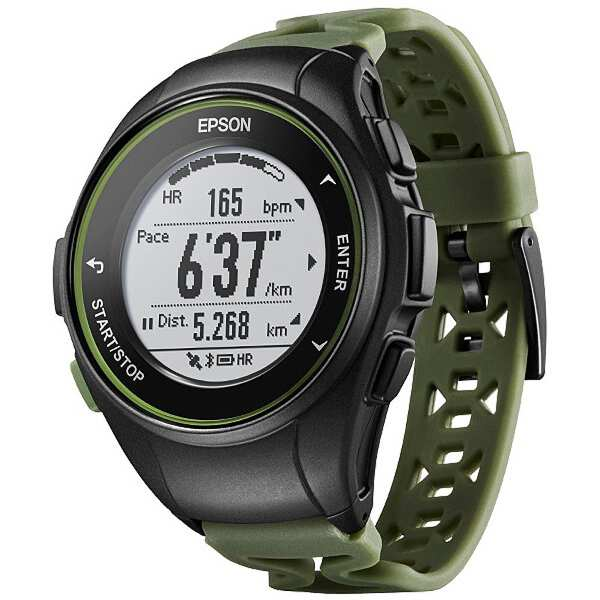 【最大1500円offクーポン(要獲得) 4/9 20:00~4/16 1:59】 【送料無料】 WristableGPS(リスタブルGPS) J-50K 心拍計測機能搭載GPSウォッチ [カラー:カーキ] #J50K 【エプソン: スポーツ・アウトドア ジョギング・マラソン ギア】【EPSON】