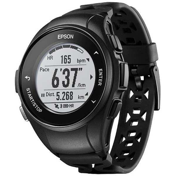 【エプソン】 WristableGPS(リスタブルGPS) J-50B 心拍計測機能搭載GPSウォッチ [カラー:ブラック] #J50B 【スポーツ・アウトドア:ジョギング・マラソン:ギア】【EPSON】