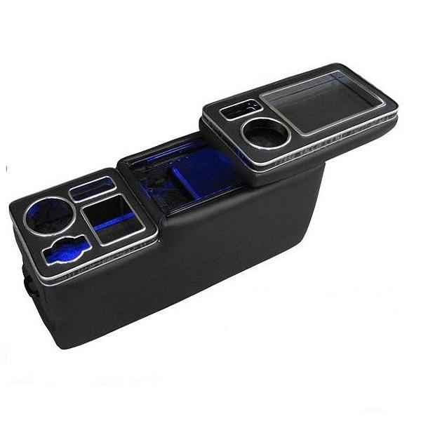 【ブレイス】 ウォークスル― コンソールボックス 青色LED付 #BT-022 【カー用品:内装パーツ:コンソールボックス】【BRAITH】