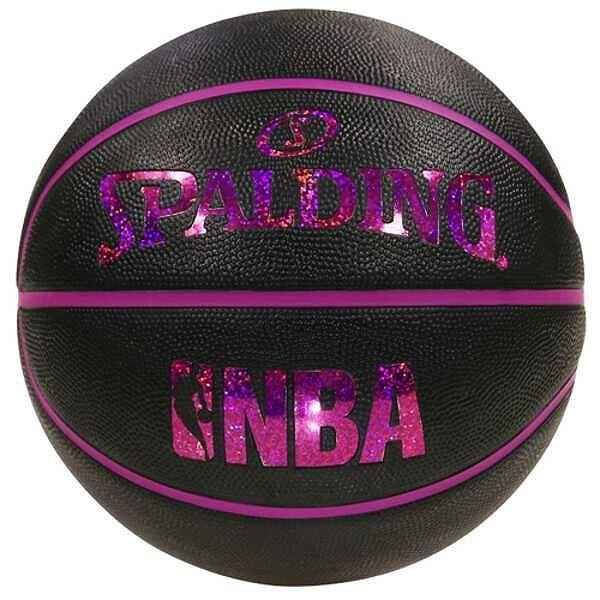 ホログラムラバ― バスケットボール 6号球 [カラー:ブラック×レッド] #83-661J