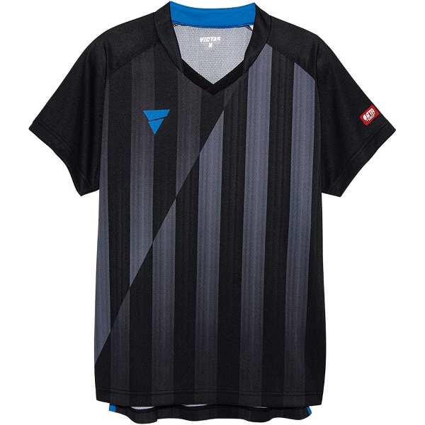 【ビクタス】 V‐NGS052 ユニセックス ゲームシャツ [サイズ:S] [カラー:ブラック] #031467-0020 【スポーツ・アウトドア:卓球:ウェア:メンズウェア:シャツ】【VICTAS】
