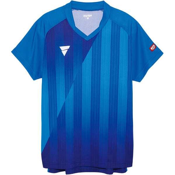 【ビクタス】 V‐NGS052 ユニセックス ゲームシャツ [サイズ:S] [カラー:ブルー] #031467-0120 【スポーツ・アウトドア:卓球:ウェア:メンズウェア:シャツ】【VICTAS】