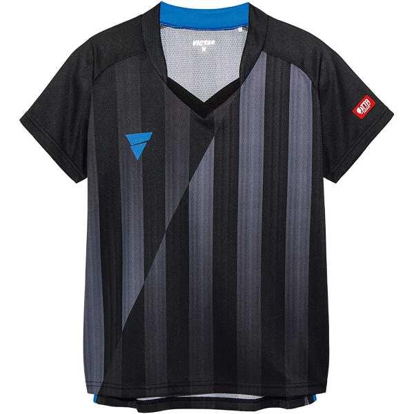 【ビクタス】 V‐LS054 レディース ゲームシャツ [サイズ:2XL] [カラー:ブラック] #031468-0020 【スポーツ・アウトドア:卓球:ウェア:レディースウェア:シャツ】【VICTAS】