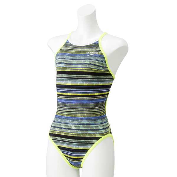 【スピード】 リバーシブルトレインカットスーツ(レディース) [サイズ:S] [カラー:イエロー] #SD58T53-YE 【スポーツ・アウトドア:水泳:競技水着:レディース競技水着】【SPEEDO】