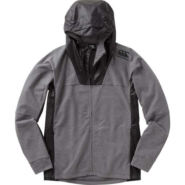 【カンタベリ―】 ロングスリーブ パフォーマンス スウェットジャケット(メンズ) [サイズ:M] [カラー:ミディアムグレー] #RP48025-15 【スポーツ・アウトドア:ラグビー:ウェア】【CANTERBURY】