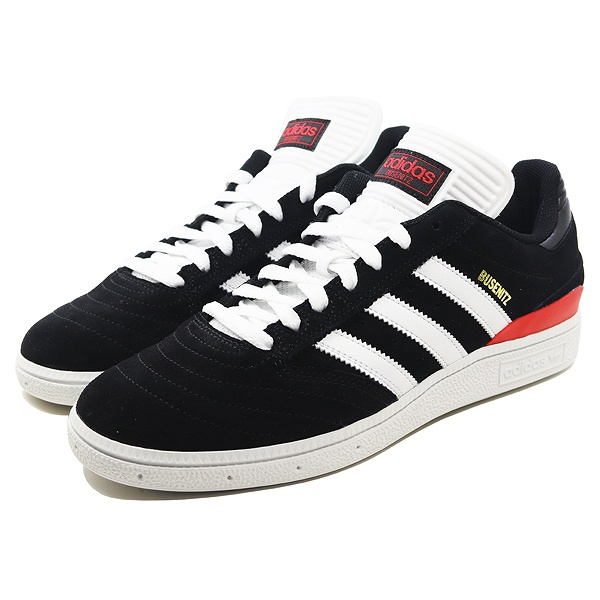【アディダス】 アディダス スケートボーディング ブセニッツ [サイズ:28cm(US10)] [カラー:ブラック×ホワイト×スカーレット] #B22767 【靴:メンズ靴:スニーカー】【B22767】【ADIDAS adidas BUSENITZ】