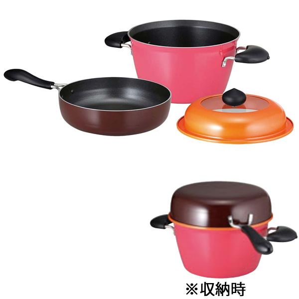 【キッチンプランニング】 マロン ポットパン MR-001 【キッチン用品:調理用具・器具:セット】【KITCHEN PLANNING】