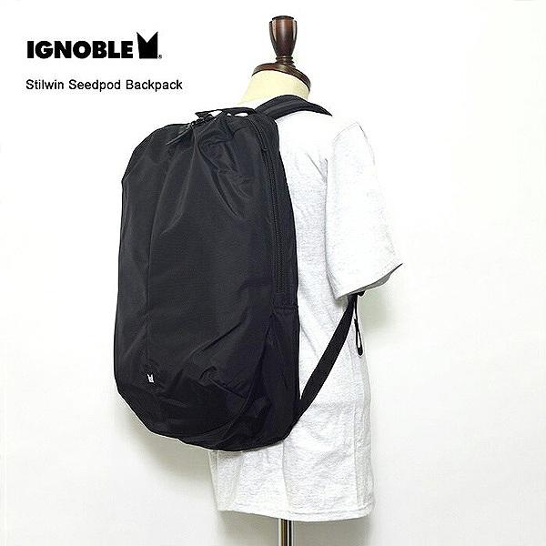 【イグノーブル】 Stilwin Seedpod Backpack [カラー:Black] [容量:27L] #12001 【スポーツ・アウトドア:その他雑貨】【IGNOBLE】