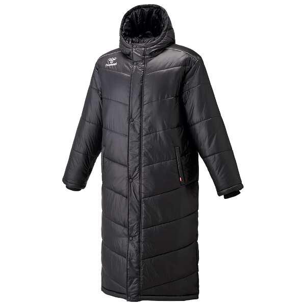【ヒュンメル】 中綿ロングコート [サイズ:S-M] [カラー:ブラック] #HAW8081-90 【スポーツ・アウトドア:その他雑貨】【HUMMEL】