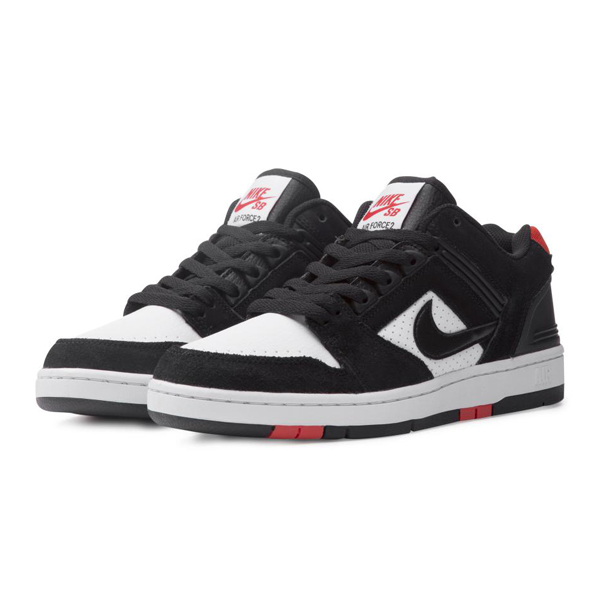 【ナイキ】 ナイキSB エア フォース 2 LOW [サイズ:26cm(US8)] [カラー:ブラック×ホワイト×レッド] #AO0300-006 【靴:メンズ靴:スニーカー】【AO0300-006】【NIKE NIKE SB AIR FORCE 2 LOW BLACK/BLACK-WHITE-HABANERO RED】