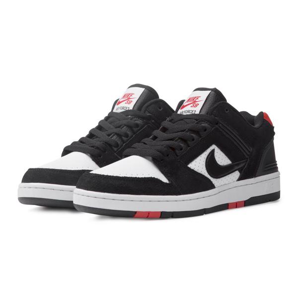 【ナイキ】 ナイキSB エア フォース 2 LOW [サイズ:28.5cm(US10.5)] [カラー:ブラック×ホワイト×レッド] #AO0300-006 【靴:メンズ靴:スニーカー】【AO0300-006】【NIKE NIKE SB AIR FORCE 2 LOW BLACK/BLACK-WHITE-HABANERO RED】