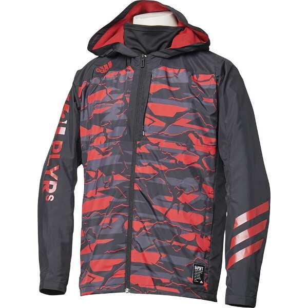 【アディダス】 5T VS ウィンドブレーカージャケット [サイズ:2XO] [カラー:ブラック×スカーレット] #FKL01-DM8702 【スポーツ・アウトドア:アウトドア:ウェア:メンズウェア:アウター】【ADIDAS】