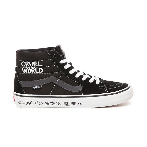 【バンズ】 バンズ スケートハイ (Cult) [サイズ:27cm(US9)] [カラー:ブラック×ホワイト] #VN000VHGUHU 【靴:メンズ靴:スニーカー】【VN000VHGUHU】【VANS VANS Sk8-Hi Pro (Cult) Black/White】