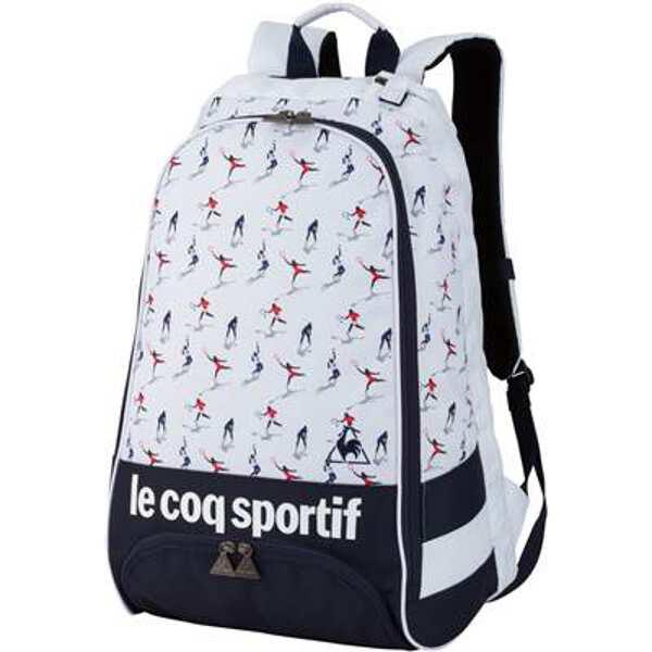 【ルコックスポルティフ】 ラケットバックパック [カラー:ホワイト] [容量:20L] #QTAMJA50-WHT 【スポーツ・アウトドア:その他雑貨】【LE COQ SPORTIF】
