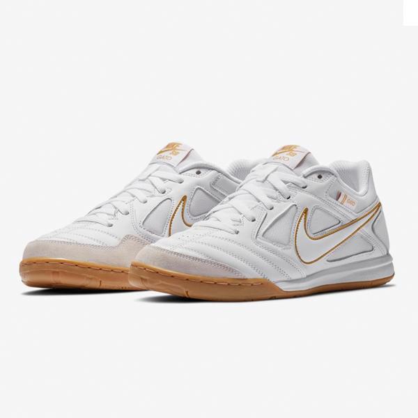 【ナイキ】 ナイキ SB ガト [サイズ:28.5cm(US10.5)] [カラー:ホワイト×ホワイト×メタリックゴールド] #AT4607-100 【靴:メンズ靴:スニーカー】【AT4607-100】【NIKE NIKE SB GATO】