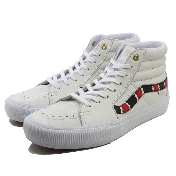 【バンズ】 バンズ スケート ハイ プロ (Coral Snake) [サイズ:27.5cm(US9.5)] [カラー:トゥルーホワイト] #VN0A45JDVG9 【靴:メンズ靴:スニーカー】【VN0A45JDVG9】【VANS VANS SK8-HI PRO】