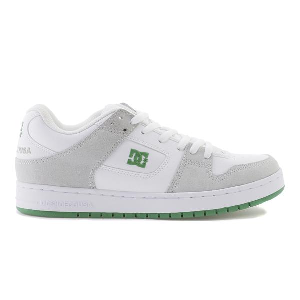 【DC SHOES】 MANTECA [カラー:ホワイト×グリーン] [サイズ:28cm (US10)] DM191028WGN 【靴:メンズ靴:スニーカー】【DM191028】