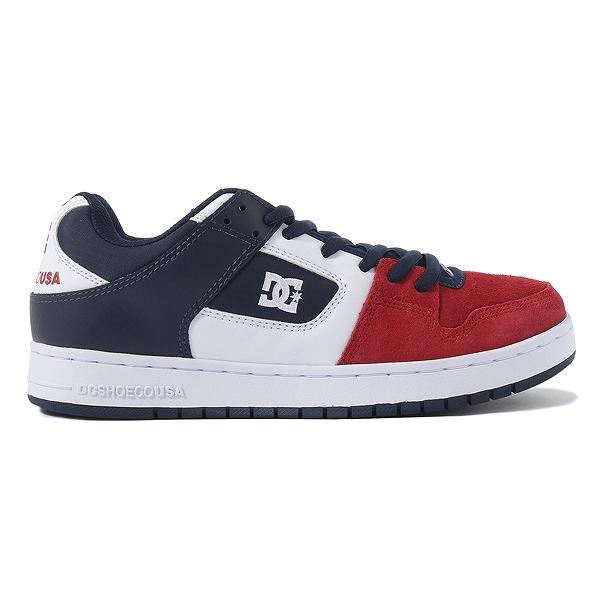 【DC SHOES】 MANTECA [カラー:ホワイト×ネイビー×レッド] [サイズ:26.5cm (US8.5)] DM191028WNR 【靴:メンズ靴:スニーカー】【DM191028】