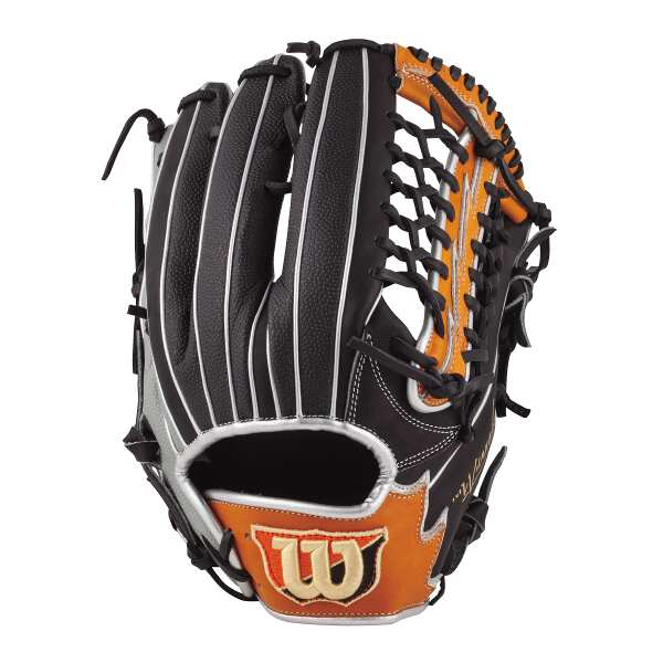【ウィルソン】 (左投げ用)Wannabe HERO DUAL 外野手用 一般軟式野球グラブ [サイズ:12] [カラー:ブラック×オレンジタン×グレーSS] #WTARHSD8FR-98GBS 【スポーツ・アウトドア:野球・ソフトボール:グローブ・ミット】【WILSON】