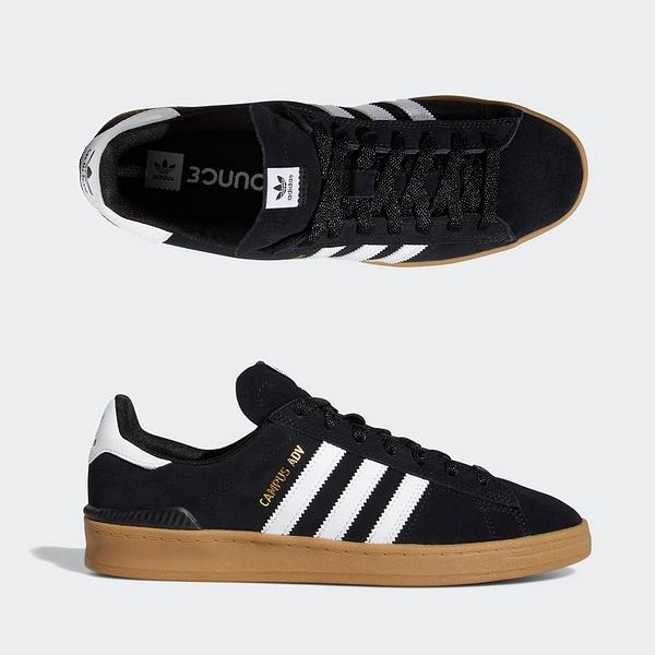 【アディダス】 アディダス キャンパス ADV [サイズ:29cm(US11)] [カラー:ブラック×ホワイト×ガム] #EE6147 【靴:メンズ靴:スニーカー】【EE6147】【ADIDAS adidas SKATEBOARDING CAMPUS ADV】