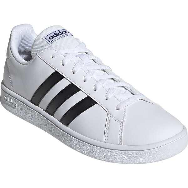 【アディダス】 GRANDCOURT BASE [サイズ:24.5cm] [カラー:ランニングホワイト×ブラック×ブルー] #EE7904 【靴:メンズ靴:スニーカー】【ADIDAS】