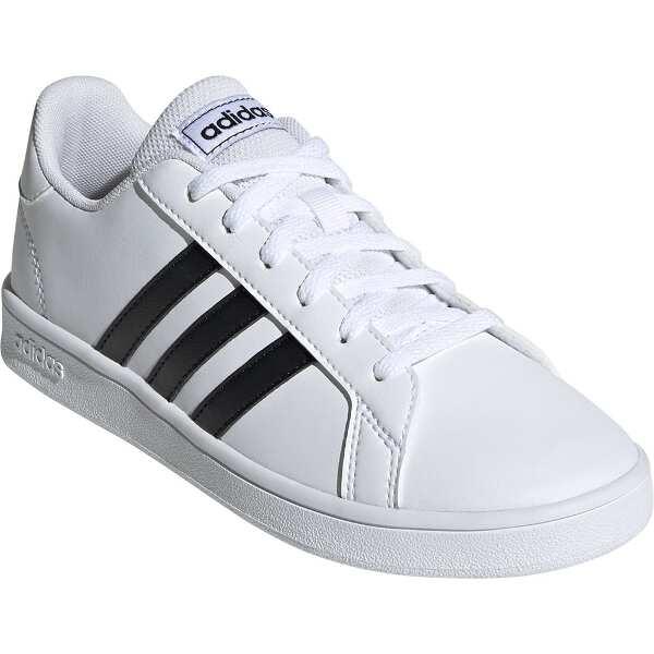 【アディダス】 GRANDCOURT K [サイズ:21.5cm] [カラー:ランニングホワイト×コアブラック] #EF0103 【靴:メンズ靴:スニーカー】【ADIDAS】