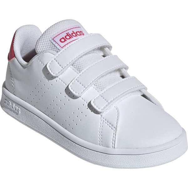 【アディダス】 ADVANCOURT C [サイズ:21.0cm] [カラー:ランニングホワイト×リアルピンク] #EF0221 【靴:メンズ靴:スニーカー】【ADIDAS】