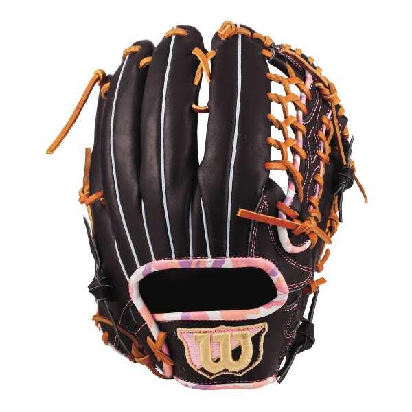 【ウィルソン】 (左投げ用)D-MAX color 外野手用 一般軟式野球グラブ 7W型 [カラー:ブラック×ピンクカモ] [サイズ:8] #WTARDF7WFR-90PCM 【スポーツ・アウトドア:野球・ソフトボール:グローブ・ミット】【WILSON】