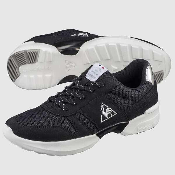 【最大10%offクーポン(要獲得) 12/19 20:00~12/23 9:59まで】 LA セーヌ PF RUN [サイズ:23.0cm] [カラー:ブラック×シルバー] #QL3OJC50BS-F 【ルコックスポルティフ: 靴 メンズ靴 スニーカー】【LE COQ SPORTIF】