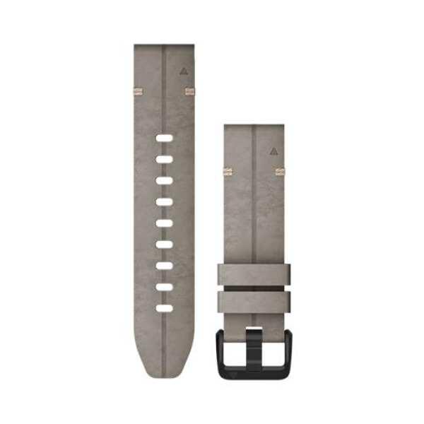 【5%offクーポン(要獲得) 10/11 20:00~10/15 23:59】 【送料無料】 QuickFit F6 20mm Shale Gray Leather #010-12876-01 【ガーミン: スポーツ・アウトドア アウトドア 精密機器類】【GARMIN】