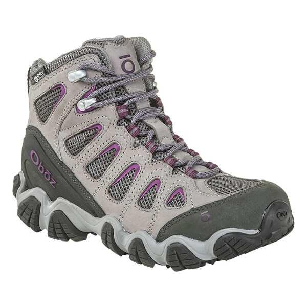 【オボズ】 ウィメンズ ソウトゥース 2 ミッド ビードライ [サイズ:US7.5(24.5cm)] [カラー:ピューター×バイオレット] #23702-PEWTE 【スポーツ・アウトドア:登山・トレッキング:靴・ブーツ】【OBOZ WOMENS Sawtooth II Mid B-DRY】