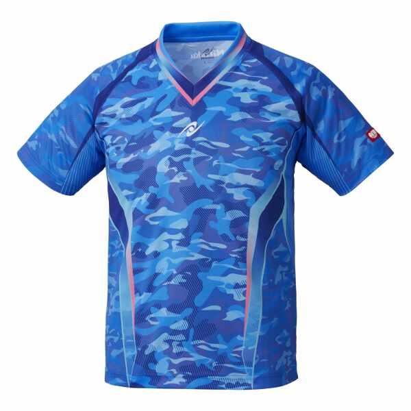 【ニッタク】 スカイカモフラシャツ(ユニセックス) [サイズ:M] [カラー:ブルー] #NW-2193-09 【スポーツ・アウトドア:卓球:ウェア:メンズウェア:シャツ】【NITTAKU SKYCAMOUFLA SHIRT】