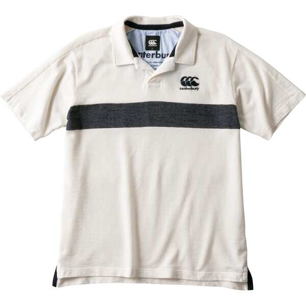 【カンタベリ―】 ショートスリーブ ラガーシャツ(メンズ) [サイズ:M] [カラー:オフホワイト] #RA39110-11 【スポーツ・アウトドア:ラグビー:ウェア】【CANTERBURY S/S RUGGER SHIRT】